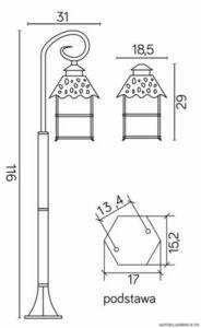 Garden lantern CADIZ K 5002/2 / Z small 6