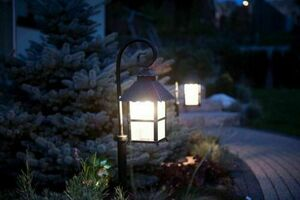 A standing garden lamp with an elegant display (86 cm) - CADIZ K 5002/3 / Z small 5