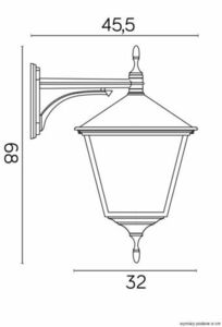 External wall-lamp, large, RETRO KWADRATOWY K 3012/1 / BD KW small 2