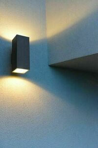 Modern outdoor wall lamp Adela 8001 BL 2x60W small 3