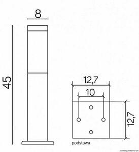 Standing garden lamp SUMA INOX SQUARE 45 cm small 2