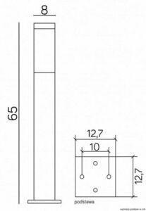 Post Light INOX square 65 cm small 2