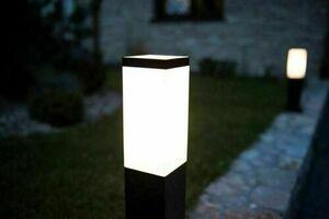 External wall lamp INOX KWADRATOWA BLACK small 1