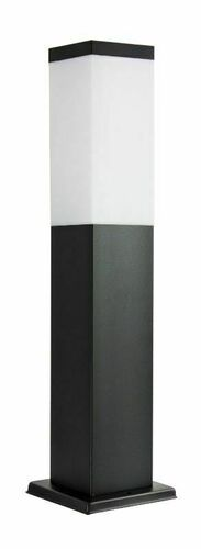 Lampa ogrodowa stojąca SUMA INOX KWADRATOWA BLACK 44 cm