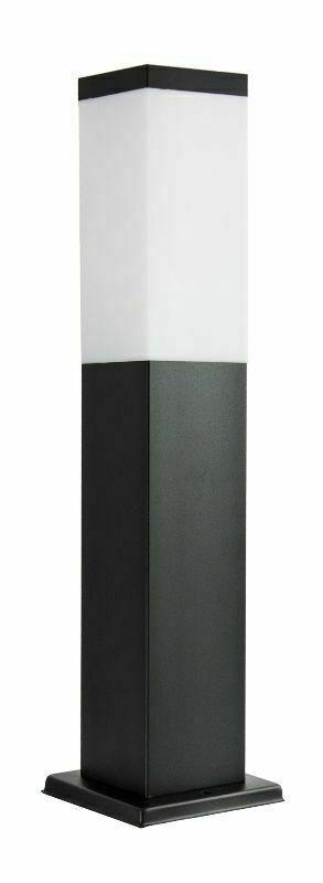 Standing garden lamp SUMA INOX KWADRATOWA BLACK 44 cm