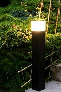 Black Garden Lamp Standing CUBE 58 cm small 2