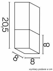 Outdoor ceiling lamp CUBE CB-S AL small 2