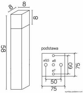 SUMA CUBE CB-580 AL Standing Garden Lamp small 3