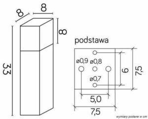 The SUMA CUBE CB-330 DG Standing Garden Lamp small 3