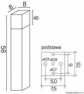 Standing Garden Lamp CUBE 58 cm, dark gray small 3