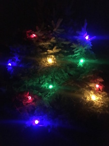 Glowing Christmas Tree Light String 60m - 60 multicolored LED bulbs small 1