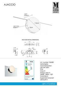 AJACCIO Wall light Chrome IP44 small 0