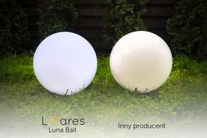 Garden lamp Luna ball 25 cm, garden ball, shining ball, path lighting, classic style, white with gloss small 12
