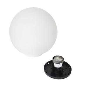 Garden lamp Luna ball 30 cm, decorative sphere, shining garden ball, white, gloss small 2