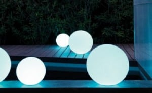 Garden lamp Luna ball 50 cm, garden ball, shining sphere, classic style, white small 5
