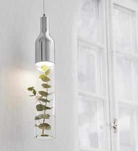 BOTTLE Hanging Chrome / Transparent small 2