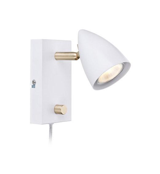 CIRO. Wall lamp 1L White / Gold Brushed