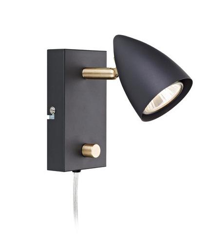 CIRO. Wall light 1L Black / Gold Brushed
