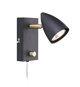 CIRO. Wall light 1L Black / Gold Brushed small 0