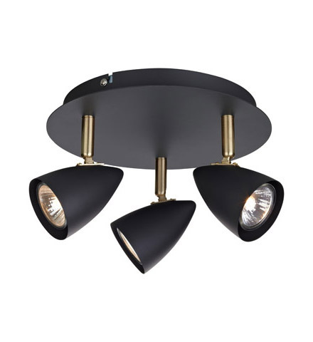 CIRO Ceiling Ceiling 3L Black / Gold Brushed