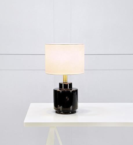 Lamp COUS Stołowa 1L Antique Black / White