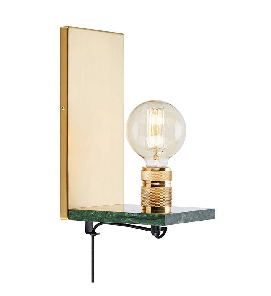 ETUI Wall lamp 1L Brass / Green Marble