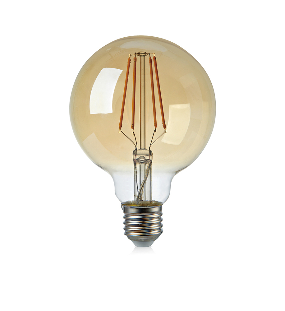 FILAMENT E27 Globe 95mm 4W dimmable