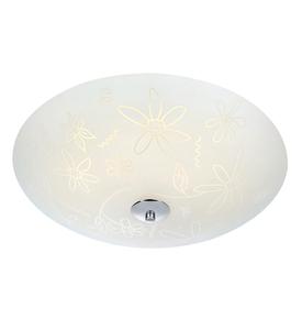 FLEUR Ceiling LED 43cm White / Chrome small 0