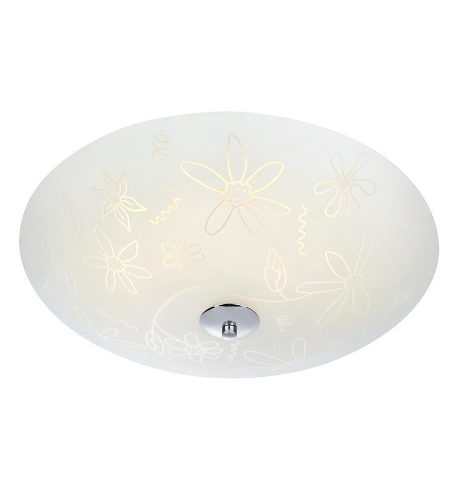 FLEUR Ceiling LED 43cm White / Chrome