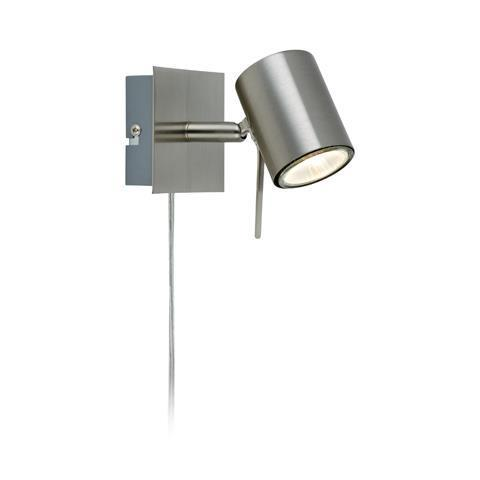 HYSSNA LED Wall lamp 1L Steel