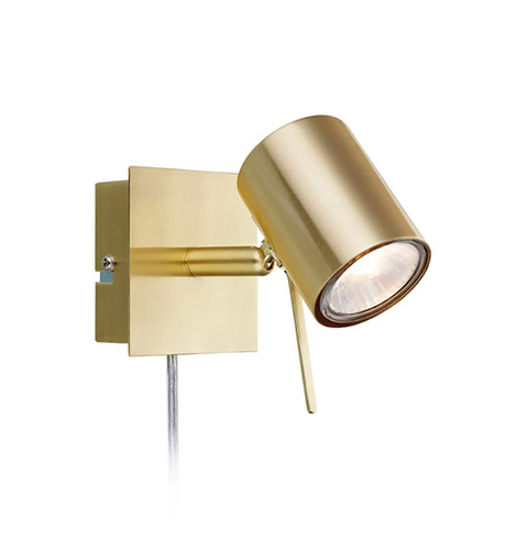 HYSSNA LED Wall light 1L Brushed gold