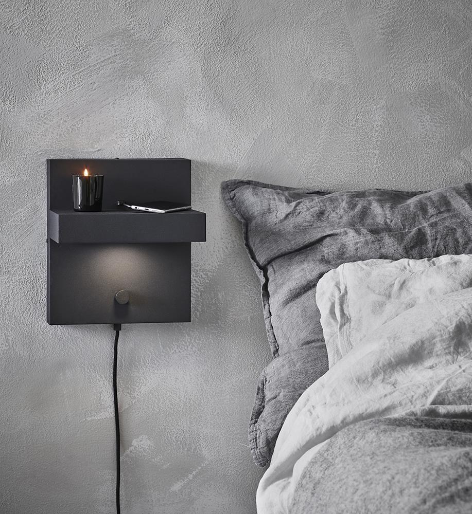 KUBIK Wall lamp USB Black