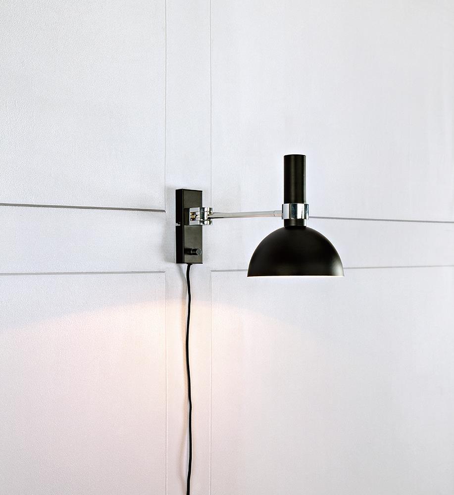 LARRY Wall lamp 1L Black / Chrome