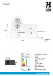 LOAD Table top USB 1L Black small 1