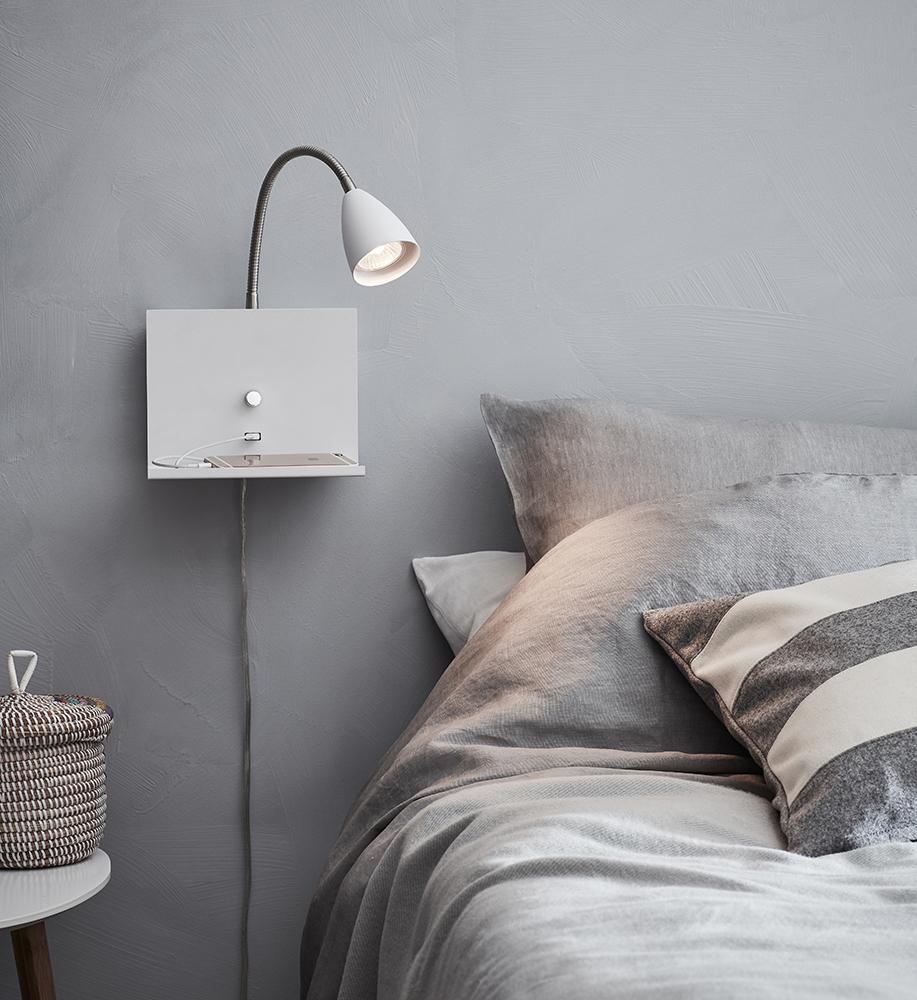 LOGI Wall lamp 1L White