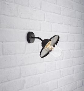MANTORP Wall light 1L Black small 1
