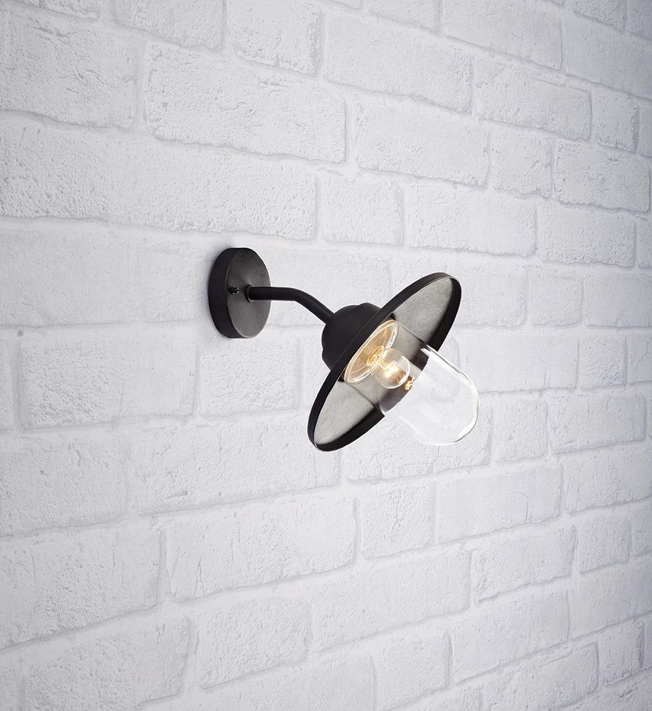 MANTORP Wall light 1L Black