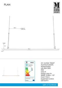 PLAN 90cm 30W Panel White small 1