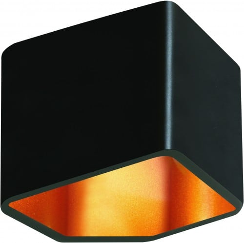 Wall lamp Space black with golden center LED 6W