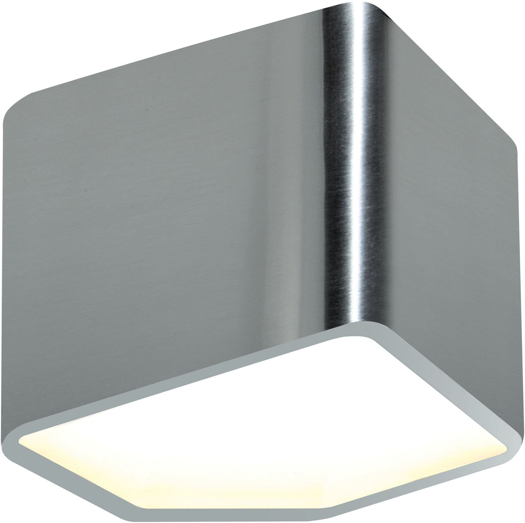 Chrome LED Wall Lamp with a warm light color