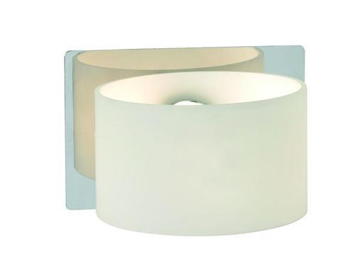 SIGTUNA Wall lamp 1L Chrome / White IP44