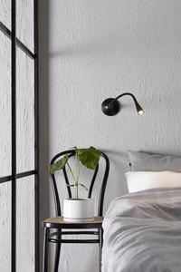 SNAKE Wall light 1L Black small 1