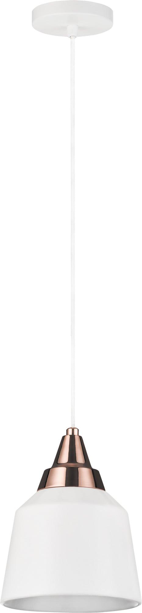 Glass pendant lamp Yoko in white E27 60W