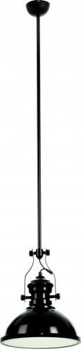 Black Lofti E27 60W loft-style pendant lamp