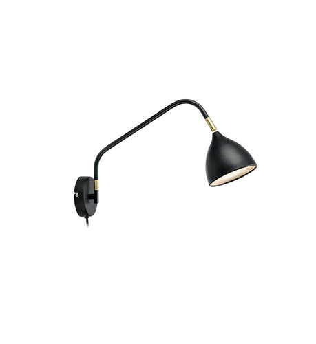 VALENCIA Wall light 1L Black / Gold