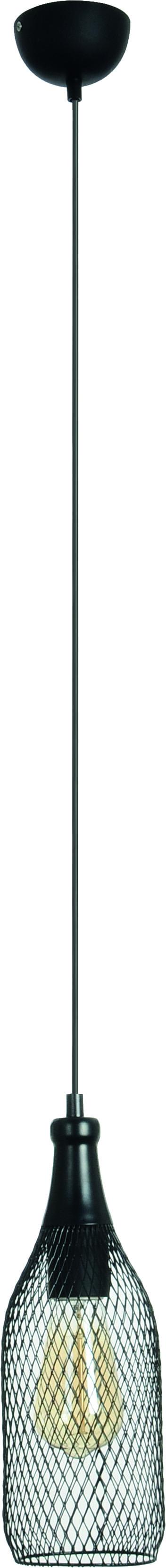 Hanging lamp Barla black net 60W transparent