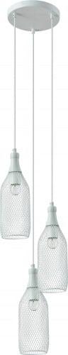 Three-point Barla hanging lamp white transparent net