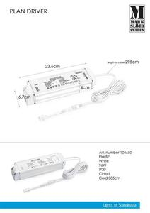 96W AC adapter (for PLAN) White small 0