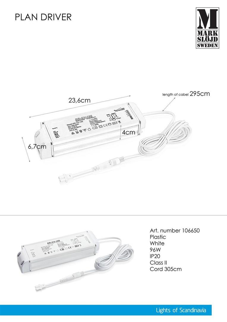 96W AC adapter (for PLAN) White