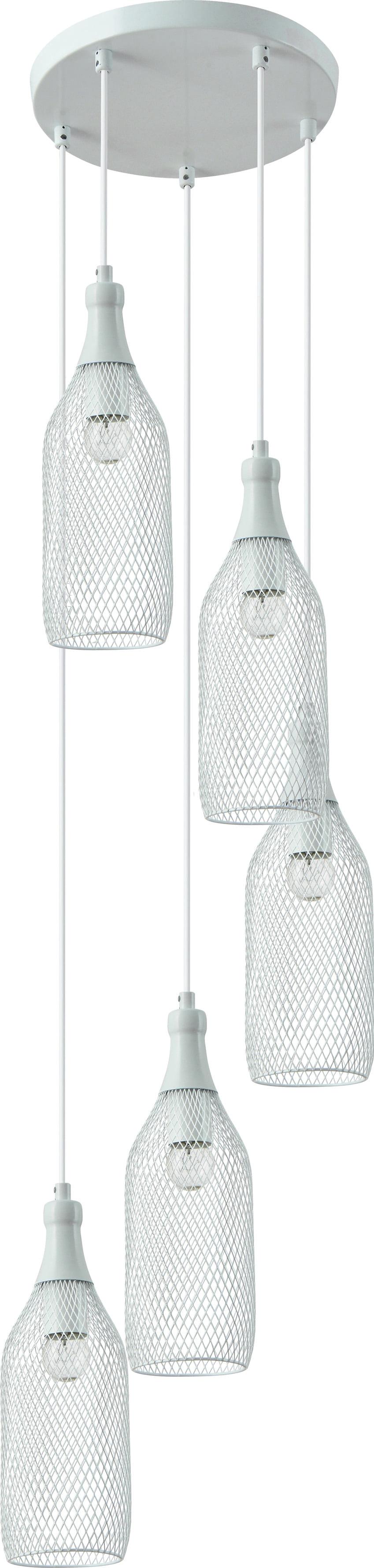 Five-point hanging lamp Barla White Grid